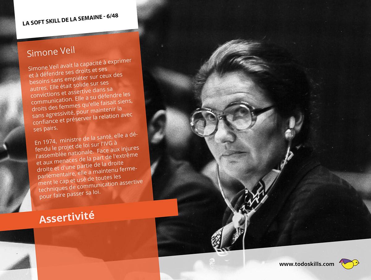 Simone Veil et l'assertivité
